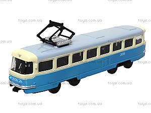 Детская модель трамвая «Автопарк», 6411C, игрушки