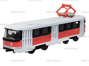 Металлическая модель трамвая «Автопарк», с подсветкой, 6411D, купить