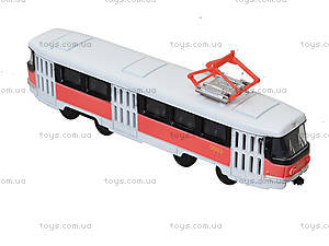 Металлическая модель трамвая «Автопарк», с подсветкой, 6411D, фото
