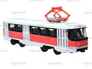 Металлическая модель трамвая «Автопарк», с подсветкой, 6411D, отзывы