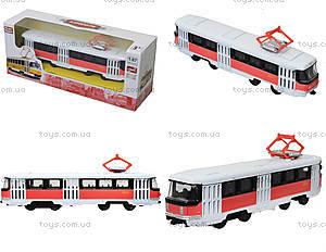 Металлическая модель трамвая «Автопарк», с подсветкой, 6411D