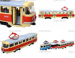 Игрушечный трамвай PLAY SMART «Автопарк», 6551