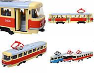 Игрушечный трамвай PLAY SMART «Автопарк», 6551, отзывы