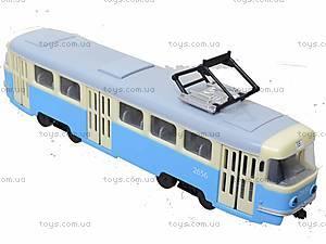Игрушечный трамвай PLAY SMART «Автопарк», 6551, детские игрушки