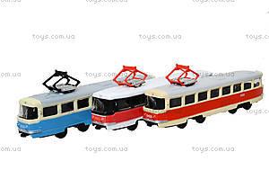 Игрушечный трамвай PLAY SMART «Автопарк», 6551, магазин игрушек
