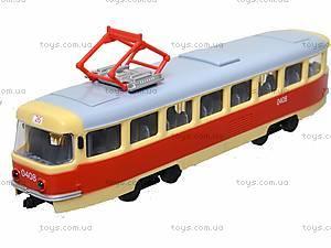 Игрушечный трамвай PLAY SMART «Автопарк», 6551, toys