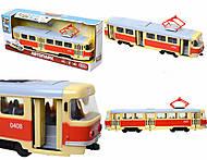 Модель трамвая со световыми, звуковыми эффектами, 9708A, отзывы