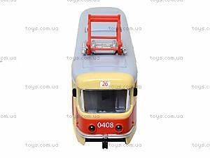 Модель трамвая со световыми, звуковыми эффектами, 9708A, фото