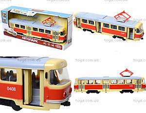 Модель трамвая со световыми, звуковыми эффектами, 9708A