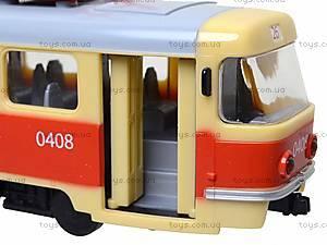 Модель трамвая со световыми, звуковыми эффектами, 9708A, игрушки