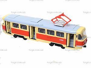 Модель трамвая со световыми, звуковыми эффектами, 9708A, детские игрушки