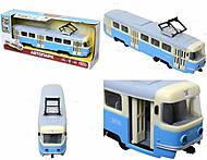 Игрушечный трамвай PLAY SMART с инерционными дверями, 9708C, цена
