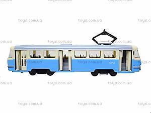 Игрушечный трамвай PLAY SMART с инерционными дверями, 9708C, купить