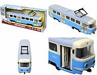 Игрушечный трамвай PLAY SMART с инерционными дверями, 9708C, магазин игрушек