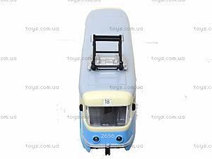 Игрушечный трамвай PLAY SMART с инерционными дверями, 9708C, детские игрушки