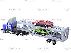 Игрушечный трейлер с машинками для детей, H36033(999-4), купить