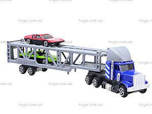 Игрушечный трейлер с машинками для детей, H36033(999-4), фото
