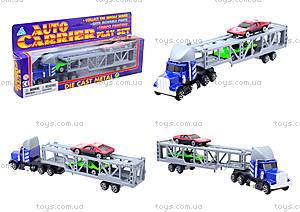 Игрушечный трейлер с машинками для детей, H36033(999-4)