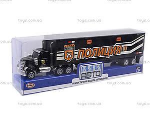 Металлическая модель трейлера «Спецслужбы», 6390-1, доставка