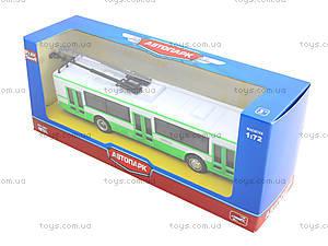 Инерционная модель троллейбуса «Автопарк», 6407A, фото