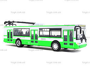 Инерционная модель троллейбуса «Автопарк», 6407A, игрушки