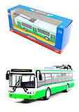Инерционная модель троллейбуса «Автопарк», 6407A, купить