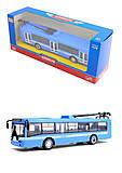 Металлическая модель троллейбуса «Автопарк», 6407B, отзывы