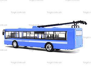 Металлическая модель троллейбуса «Автопарк», 6407B, купить