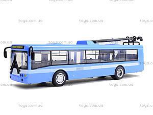 Металлическая модель троллейбуса «Автопарк», 6407B, фото