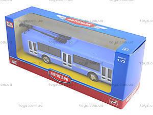 Металлическая модель троллейбуса «Автопарк», 6407B, цена