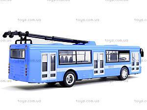 Металлическая модель троллейбуса «Автопарк», 6407B, игрушки