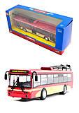 Игрушечный троллейбус «Автопарк», 6407C, фото