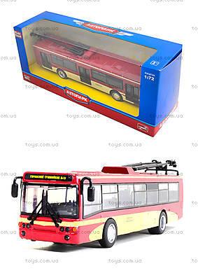 Игрушечный троллейбус «Автопарк», 6407C