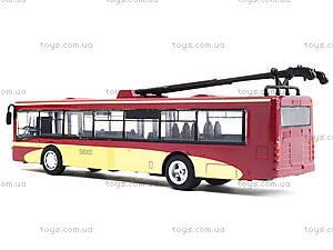 Игрушечный троллейбус «Автопарк», 6407C, игрушки