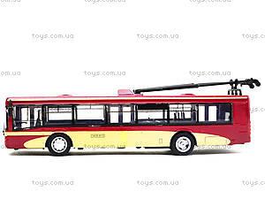 Игрушечный троллейбус «Автопарк», 6407C, детские игрушки