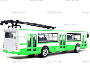 Игрушечная модель троллейбуса «Автопарк», 6547, цена
