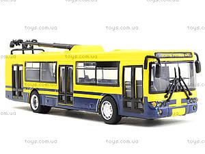 Игрушечная модель троллейбуса «Автопарк», 6547, игрушки