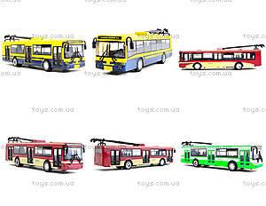 Игрушечная модель троллейбуса «Автопарк», 6547, детские игрушки