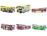 Игрушечная модель троллейбуса «Автопарк», 6547, фото