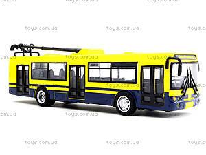 Игрушечная модель троллейбуса «Автопарк», 6547, toys.com.ua