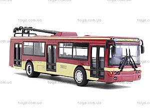 Игрушечная модель троллейбуса «Автопарк», 6547, toys