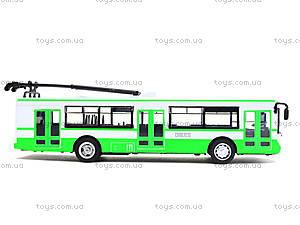 Игрушечная модель троллейбуса «Автопарк», 6547, детский