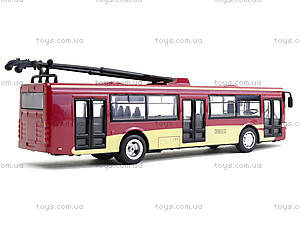 Игрушечная модель троллейбуса «Автопарк», 6547, Украина