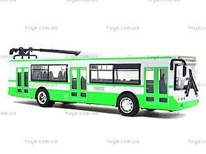 Игрушечная модель троллейбуса «Автопарк», 6547, доставка