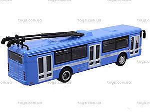 Игрушечная модель троллейбуса «Автопарк», 6547, игрушка