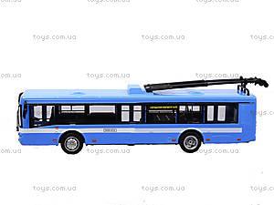 Игрушечная модель троллейбуса «Автопарк», 6547, оптом