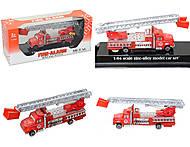 Моделька металлическая «Пожарка», 0750-9, купить игрушку