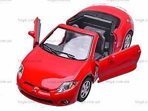 Моделька Mitsubishi Eclipse Spyder, KT5305W, игрушки
