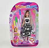 Модная Барби в платье - раскраске, 6668B, купить