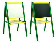 Магнитный мольберт, желто-зеленый, М016, интернет магазин22 игрушки Украина